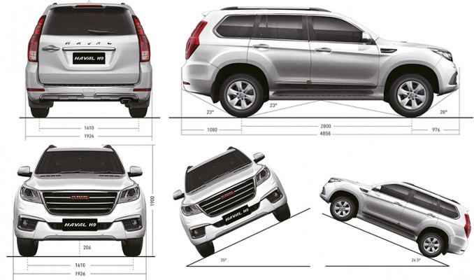 HAVAL H9 dimensions